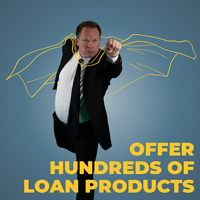 Offer hundreds of loan products