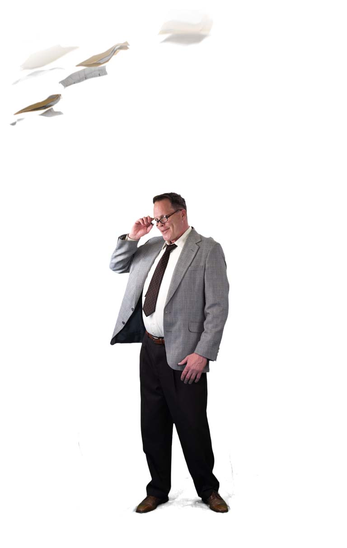 man taking off glasses