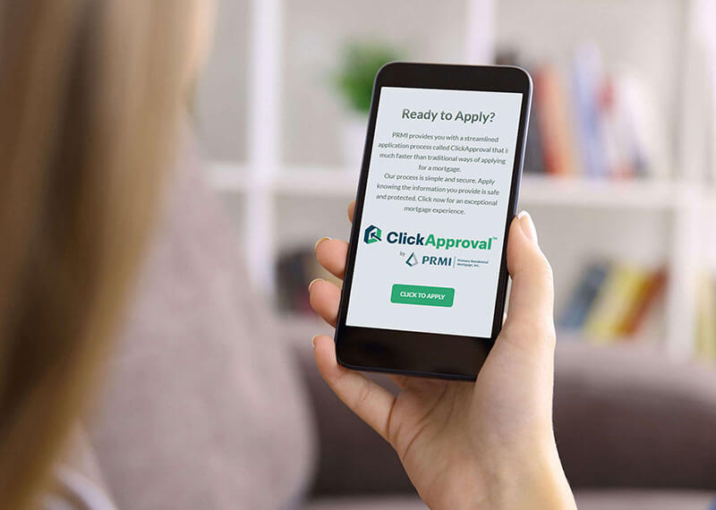 Click Approval Technology offered at Primary Residential Mortgage