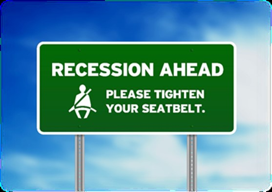 Recession Ahead Sign