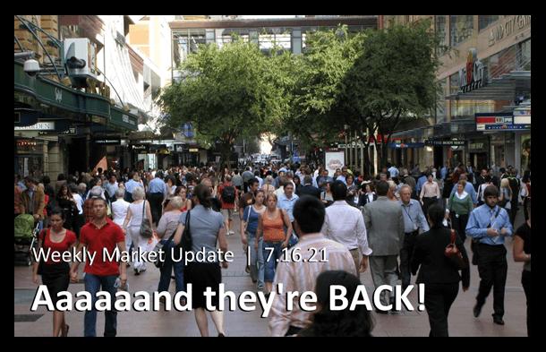 Weekly Market Update photo of crowd of people walking a street