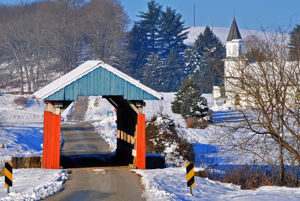 Hopewell Church Covered Bridge in   Perry County