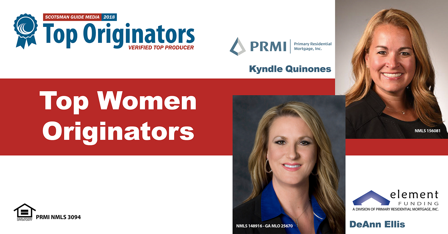 Kyndle Quinones and DeAnn Ellis with the Top Women Originators Award