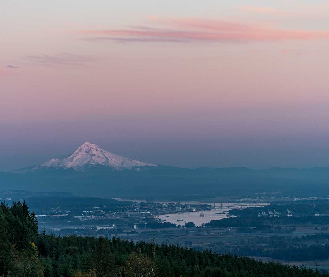 Mount Rainer at dusk
